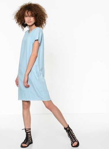 Fashion Friends Kısa Kollu Elbise Mavi